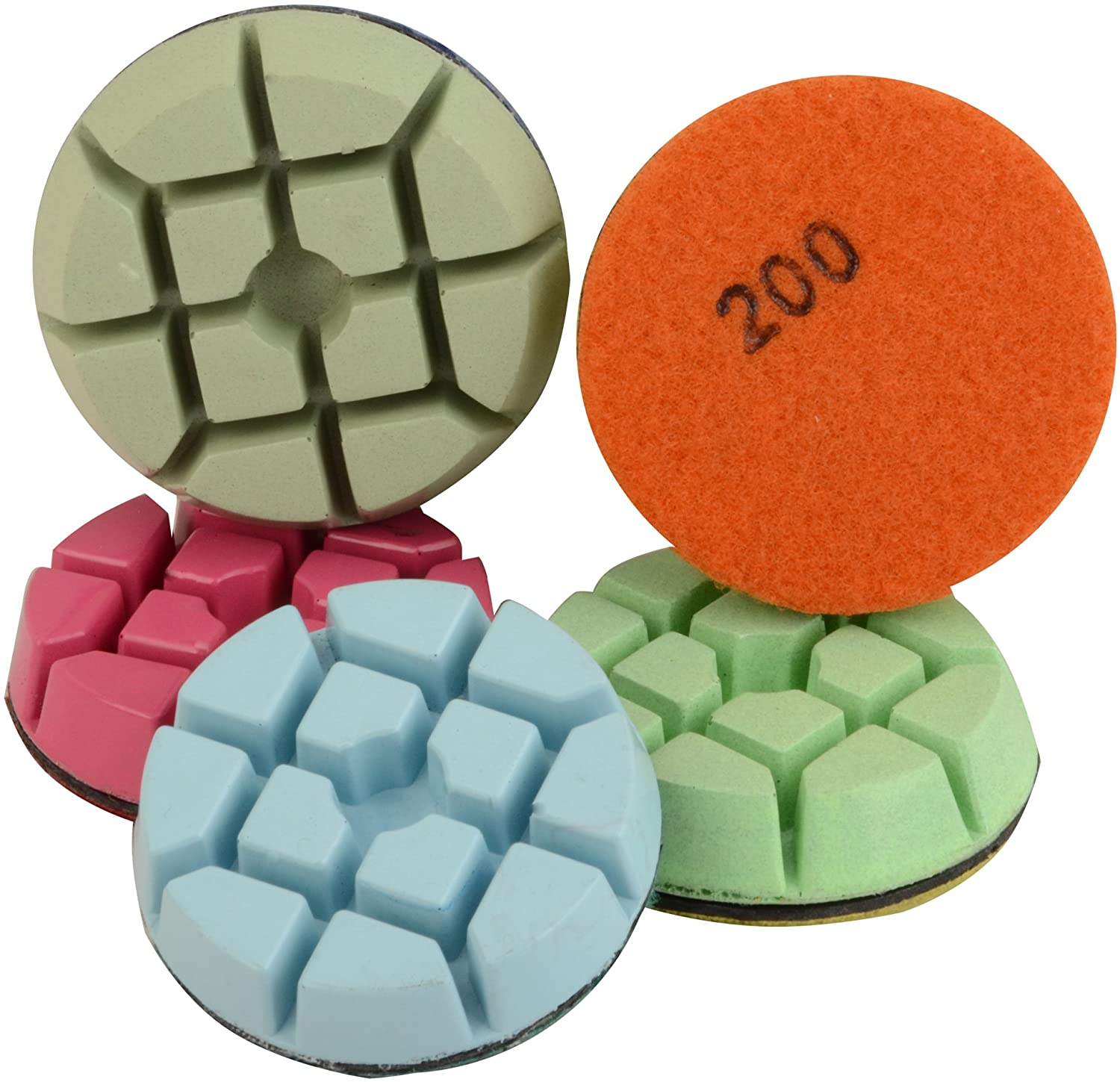 Easy Light Diamond Floor Polishing Pads for Concrete 3 Inch Set of 7 Grit 50 to 3000