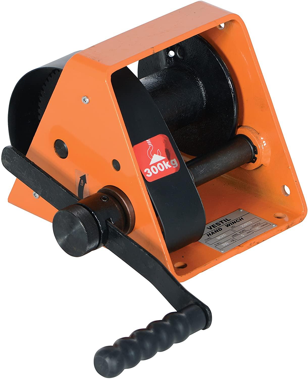 Vestil Single Speed Hand Winch with Load Pressure Brake - 600-Lb. Load Capacity, Model Number HWG-600