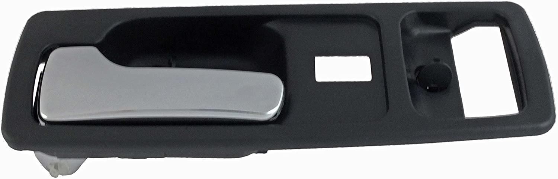 Dorman 92588 Front Driver Side Interior Door Handle for Select Honda Models, Black and Chrome