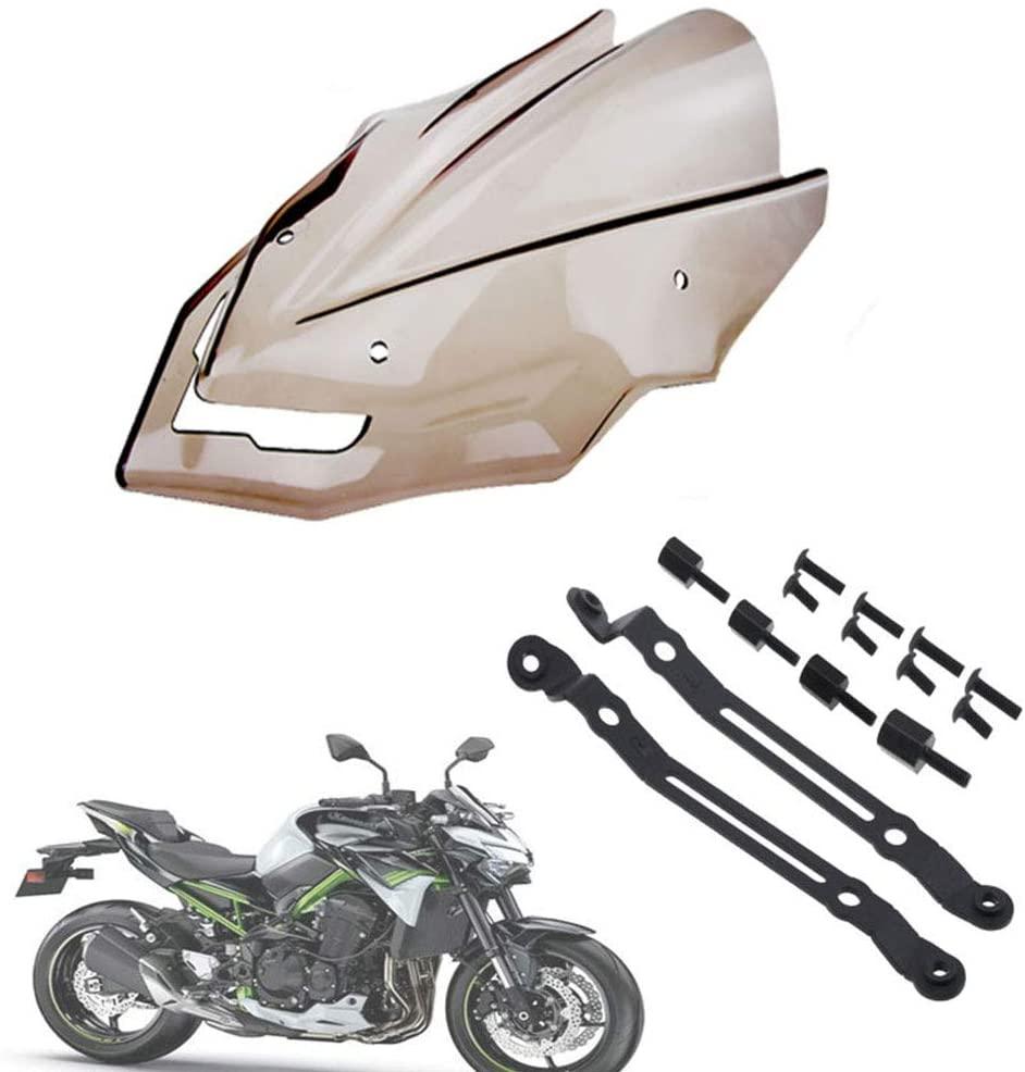 psler Motorcycle Accessories Screen Windshield Fairing Windscreen for Z900 2019-2020(Smoke)