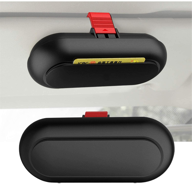 YOCTM Fits for 2018 2019 2020 Jeep Wrangler JL & Gladiator JT Sun Visor Glasses Holder Sunglasses Case Card Organizer Storage Auto Interior Accessories (Black)