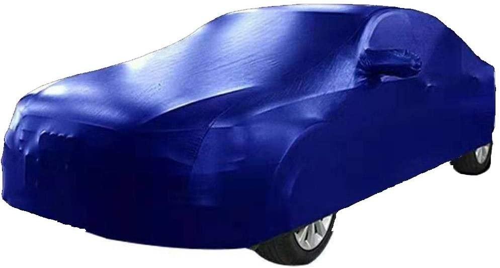 TYTZSM Car Cover Lincoln MKX Car Clothing Imitation Leather Pu Cloth Sun Protection Rain Cover Car Cloth Car Cover (Color : Blue)