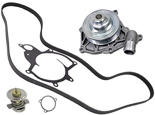 for Porsche 997 (turbo) PIERBURG Coolant Pump +Belt +Thermostat 83c