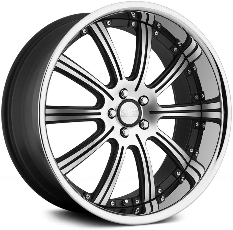 Concept One 748 RS-10 Matte Black Wheel with Machined Lip Finish (20x10