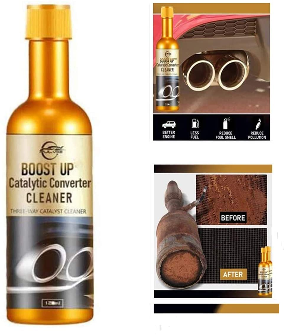 DMZing 120ML Catalytic Converter Cleaner, Powerful Engine Booster Cleaner, Automotive Three-Way Catalytic Cleaning Agent, Engine Catalytic Converter Cleaner, Simply Pour in Your Fuel Tank (2PCS)
