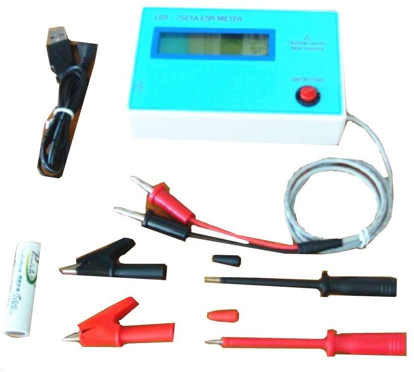 KUNHEWUHUA Capacitor/Capacitance ESR/DCR IN-Circuit Inductance Resistance Meter + Clip
