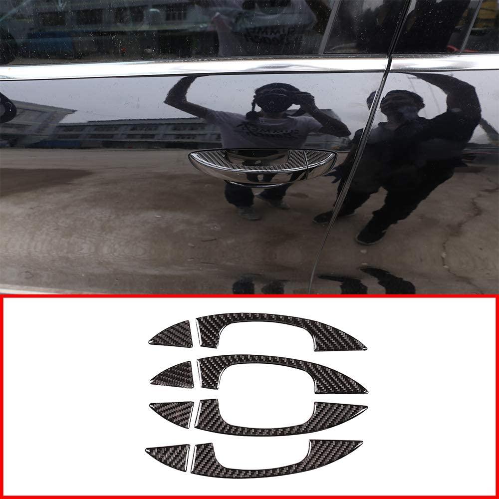 Soft Carbon Fiber Material For Volkswagen Touareg 2011-2018 Car Accessories Outside Door Handle Cover Frame Trim 8pc
