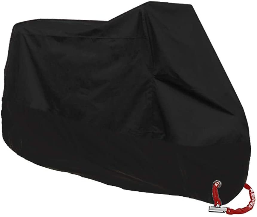 TAOYI Motorcycle Cover Waterproof Motorcycle Cove Motorcycle Covers Waterproof Dustproof Uv Protective Universal Moto Scooter Tent-L-1801-2000Mm_Black