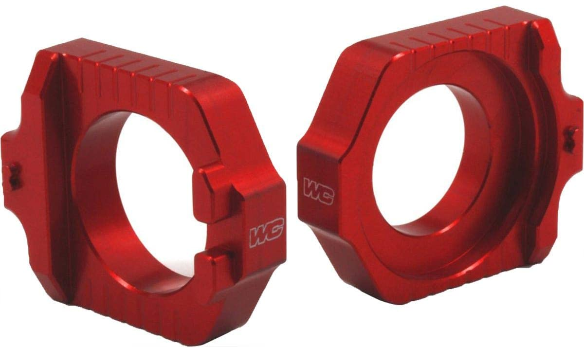 Works Connection Elite Axle Blocks (RED) for 18-20 KTM 250SX