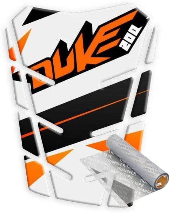 Tankpad for KTM Duke 200 2010-2017 (White/Orange)