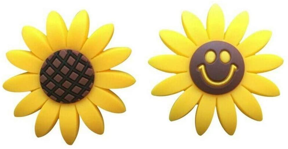 MAMaiuh 2Pcs Sunflowers Air Vent Decorations Car Accessories Air Freshener Scent Diffuser Auto Interior (C)
