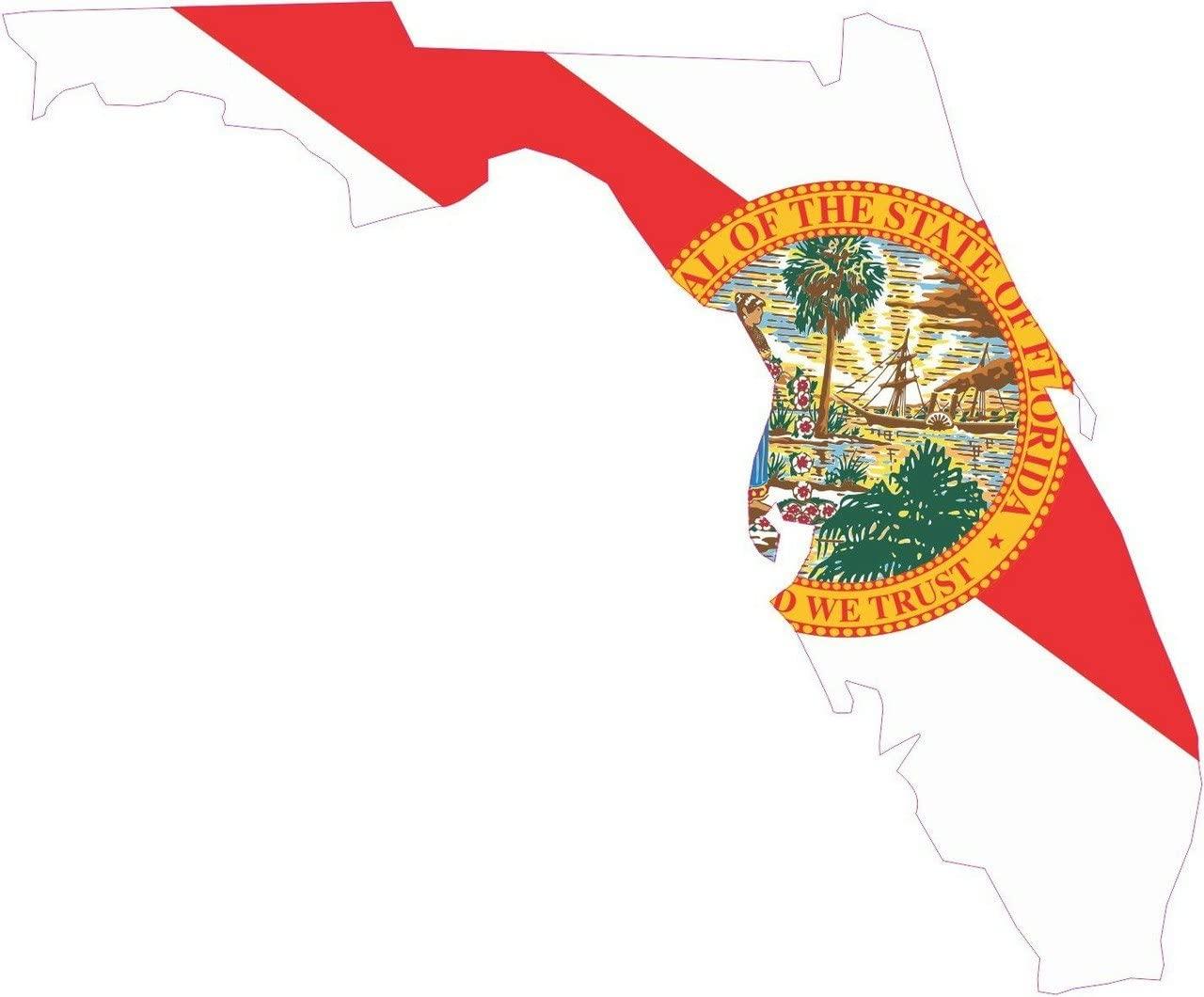 StickerTalk Die Cut Florida Flag Vinyl Sticker, 4.5 inches by 4 inches