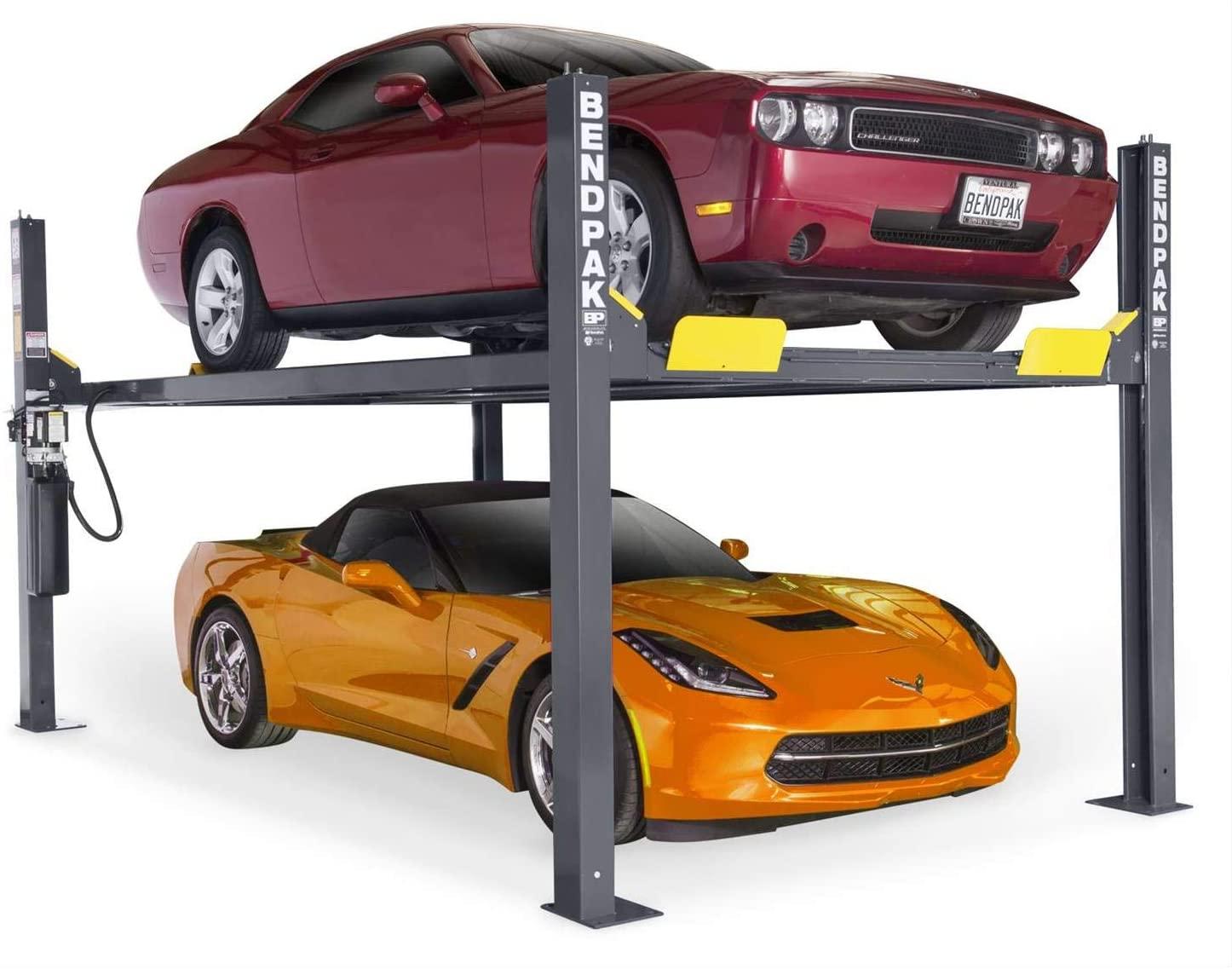 BendPak 4-Post Car Lift - 9000-Lb. Capacity, Gray Model Number HD-9