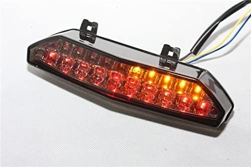 HTTMT MT124-SK Led Tail Brake Light Turn Signals Compatible with Kawasaki Ninja Zx 6R 2007 2008 Smoke