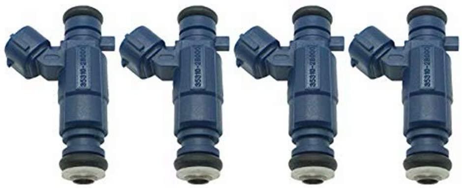 4pcs Fuel Injector OE# 35310-2B000 for Hyundai Accent Trajet I20 I30 Kia Rio Cerato Venga 1.4 1.6