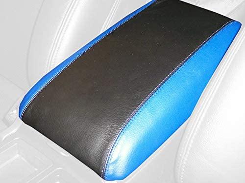RedlineGoods cubierta de apoyabrazos Compatible with Pontiac GTO 2004-06. Alcantara Negra Costura Plata
