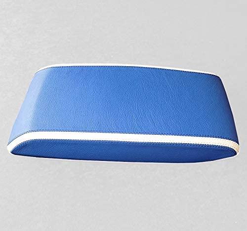 RedlineGoods armrest Cover 1 (2005-07) Compatible with Chrysler 300 2005-10. Black Leather-Blue Thread