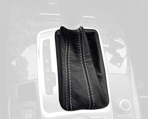 RedlineGoods DSG bota/funda para palanca de cambios Compatible with Audi S3 8P 2003-12. Alcantara Negra Costura Azul