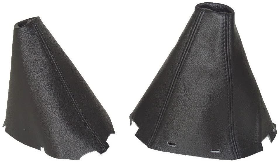 The Tuning-Shop Ltd for Nissan NAVARA D40 2006-2012 Shift & E Brake Black Genuine Leather
