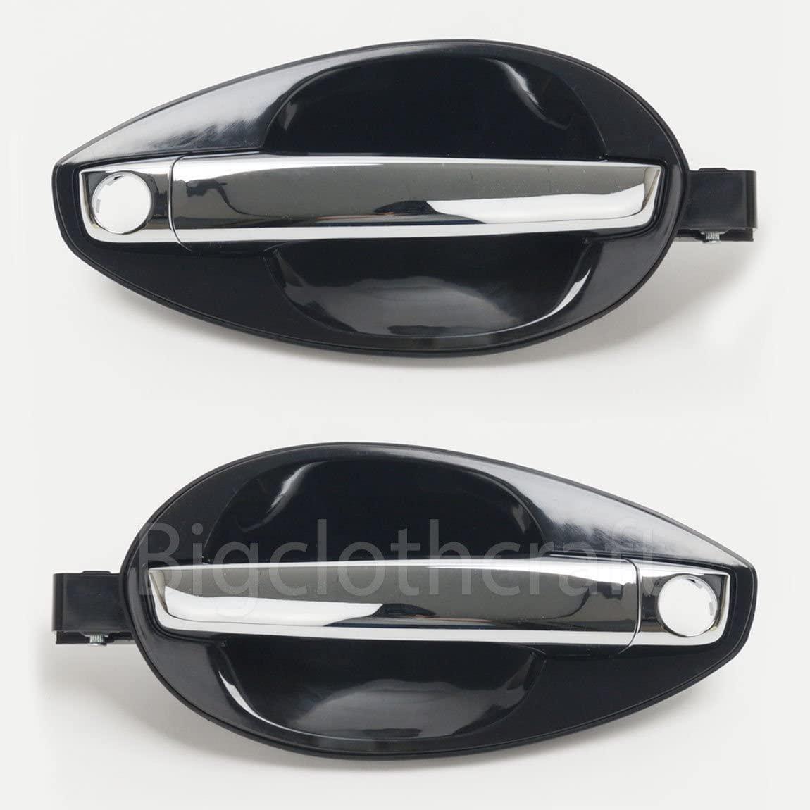 Genuine Outside Chrome Door Handle Catch (unpainted) LH & RH Set For 2003-2008 Hyundai Tiburon Coupe (826502C010 & 826602C010) Left (Driver) & Right (Passenger) side