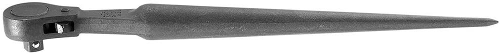 Klein Tools 3238 1/2-Inch Ratcheting Construction Wrench, Forged From Alloy Steel with Corrion Resistant Black Finish