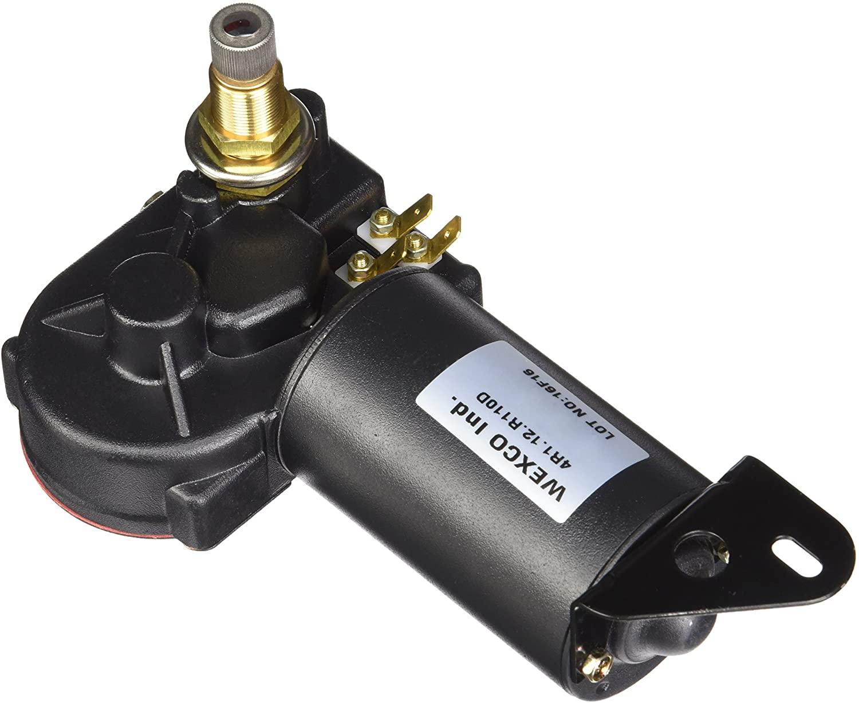 Wexco 4R Wiper Motor - 4R1.12.R110D - 1.5 Shaft, 12 Volts, 3 spade wiring terminals