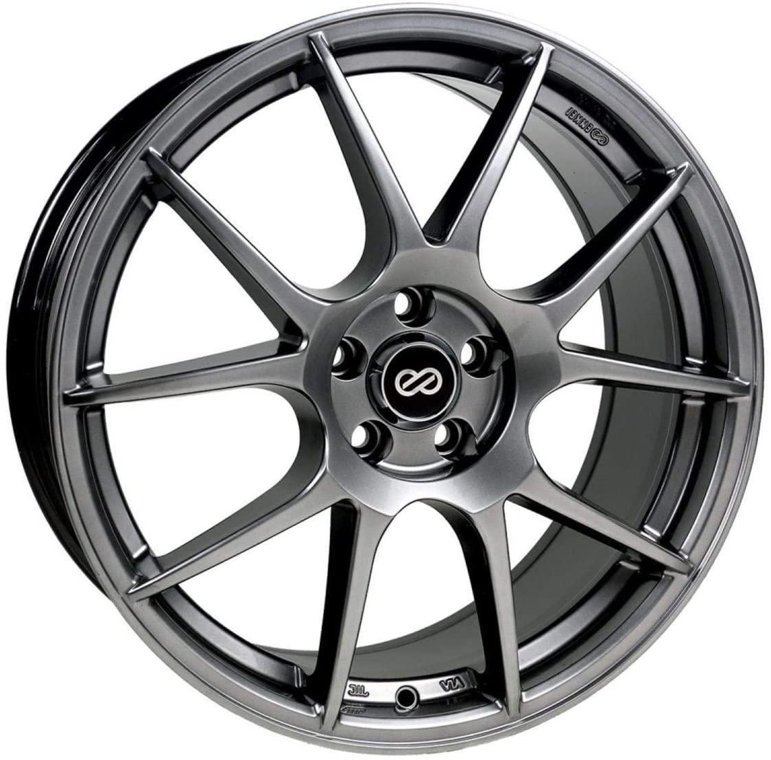 18x8 Enkei YS5 (Hyper Black) Wheels/Rims 5x114.3 (494-880-6540HB)