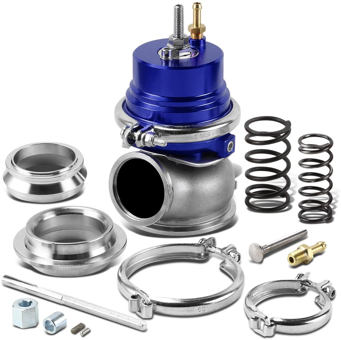 60mm Bolt-on 5/12/14 PSI External Turbo Exhaust Manifold Wastegate (Blue)