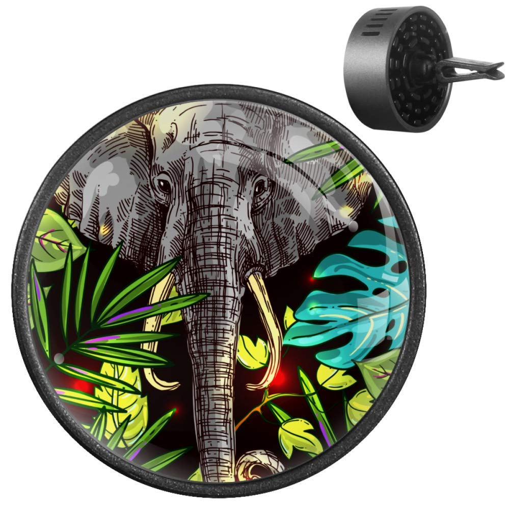 Scent Oil Diffuser Incense Clip Vent Aromatherapy Tropical Floral Elephant Car Essential Air Freshener