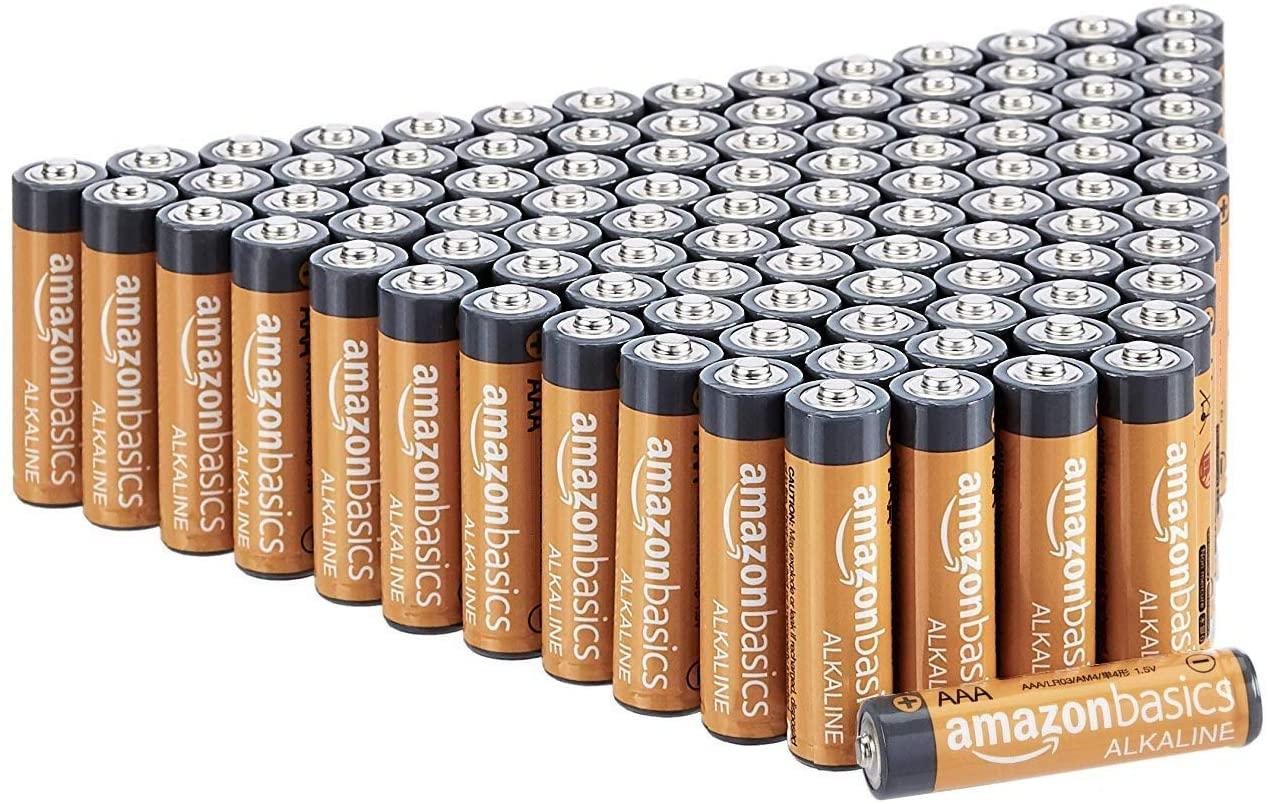 DHgateBasics 100 Pack AAA High-Performance Alkaline Batteries, 10-Year Shelf Life, Easy to Open Value Pack
