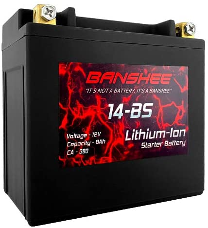 Lithium LiFePO4 14-BS Sealed Motorcycle Battery