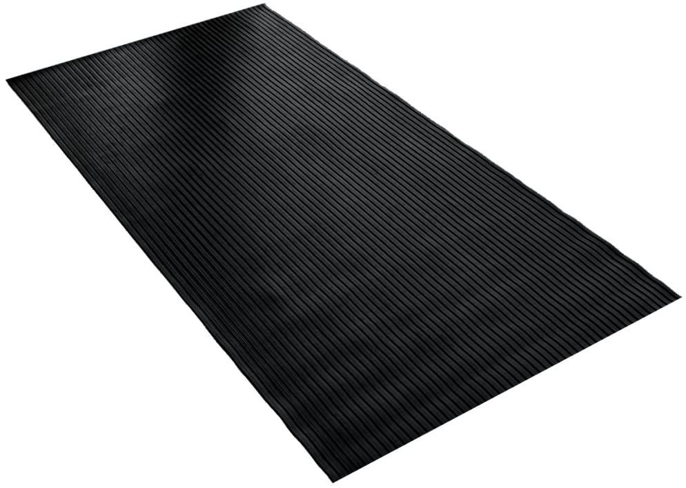 BDK GMT330 Black 8' x 4' Flex Tough Garage Thick Heavy Duty Rubber Floor Mat/Protector for Garage, Shop, Parking, Patio, Entrance, 1 Pack