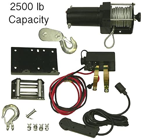 Rareelectrical NEW 2500 LB COMPLETE WINCH MOTOR ASSEMBLY COMPATIBLE WITH HONDA ARCTIC CAT ATV UTV 10904 RW00704 77-38-10904 773810904 WIN0014