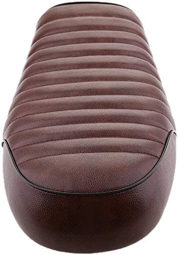 ASDZ for Honda Yamaha Suzuki Kawasaki Retro Motorcycle Cafe Racer Seat (Color : Brown)