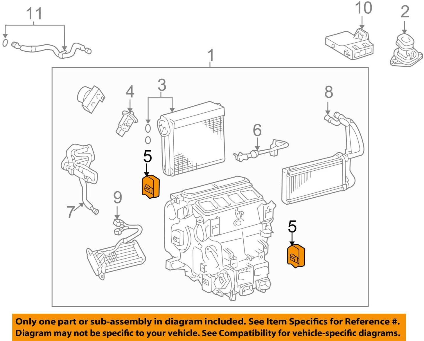Toyota 87106-60270 Air Conditioner Radiator Damper Servo Sub Assembly