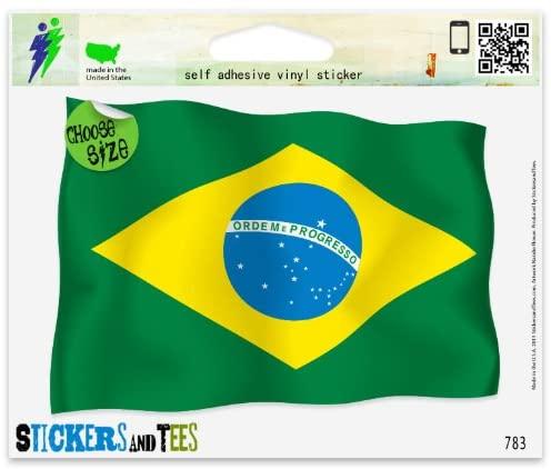 Brazil Brazilian Flag Car Sticker Indoor Outdoor 6 x 4