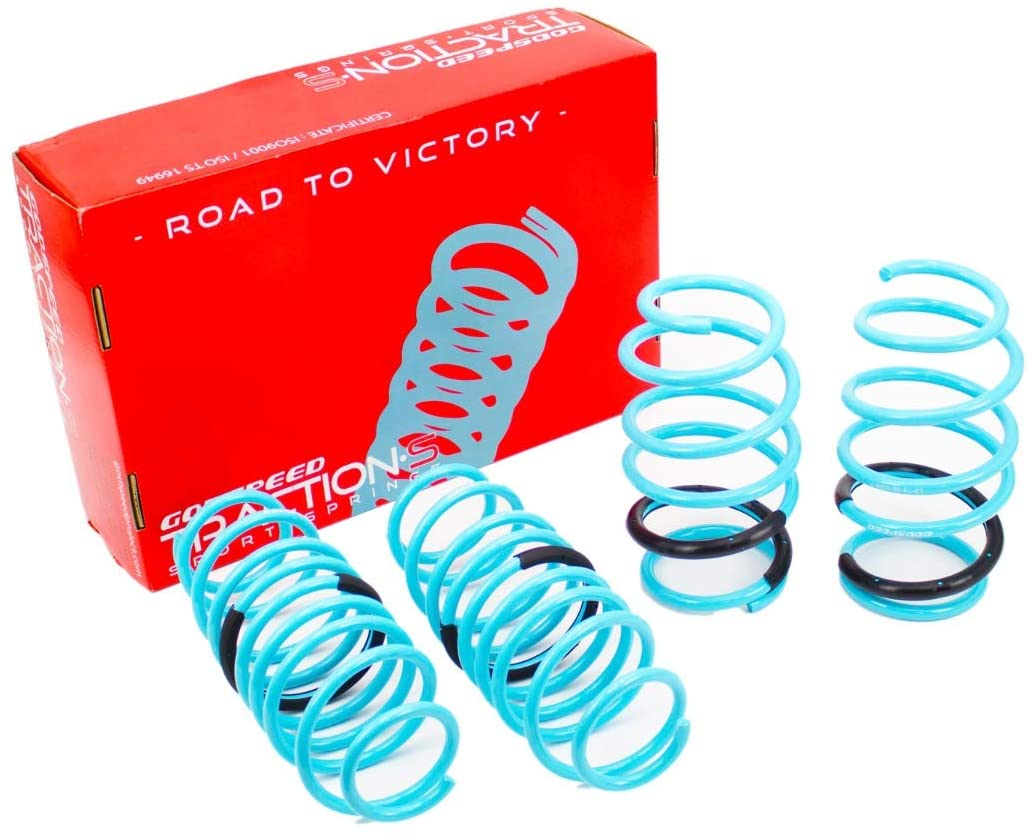 Godspeed LS-TS-DE-0005 Traction-S Performance Lowering Springs, Reduce Body Roll, Improved Handling, Set of 4, compatible with Dodge Dart (PF) 2013-16