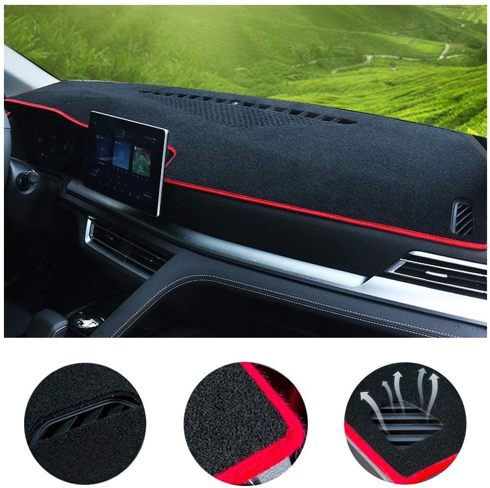 SureKit Car Custom Dash Cover for Kia Soul 2014-2019 2020 Auto Dashboard Pad DashMat Dash Board Cover (red line)