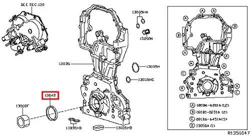 Infiniti 13510-0Z400, Engine Crankshaft Seal