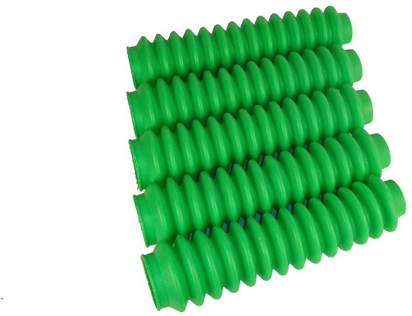 5 Pack Fluorescent or Lime Green Poly-vinyl Shock Boots fits Aftermarket Shocks for Jeep Wrangler YJ 1987-1995