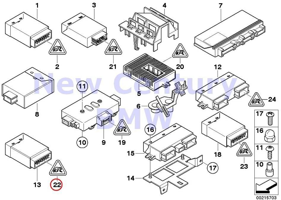 BMW Genuine Control Units/Modules Plug Housing 15 Pol. White 530xi 535xi 745i 750i 760i ALPINA B7 745Li 750Li 760Li Phantom Phantom EWB Phantom Phantom EWB