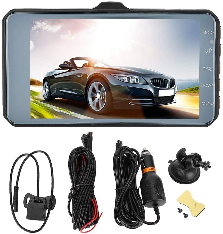 Driving Recorder,1080P HD 3.7 Inch Touch Screen Dual Lens Dash Cam 170 Degree Wide Angle Aluminum Alloy Driving Video Recorder Car DVR Camera SOS/G - sensor
