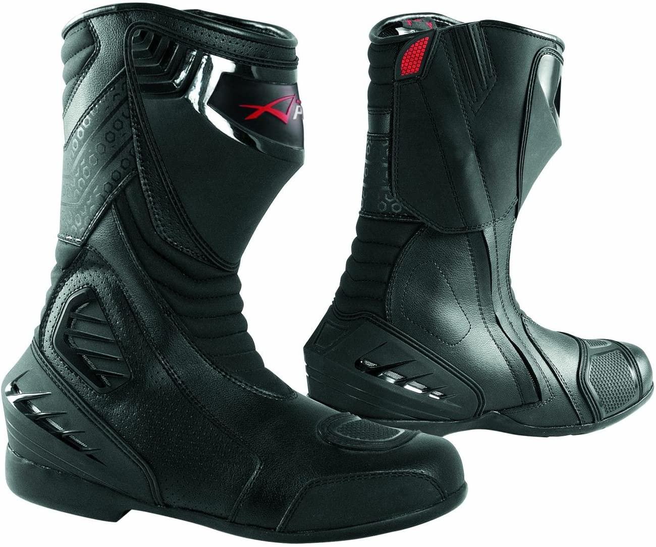 Paddock Motorcycle Motobike Sport Boots Track performance Sonicmoto Black 46