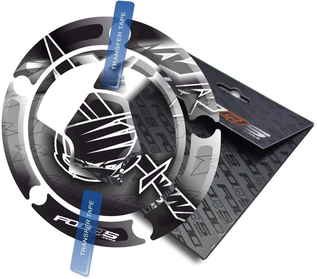 Fooqs Cappad for Kawasaki ZX ZX6r ZX 6R 6 r ZX7r 7R 7 ZX9R 9R 9 ZX10R 10R 10 (Silver)