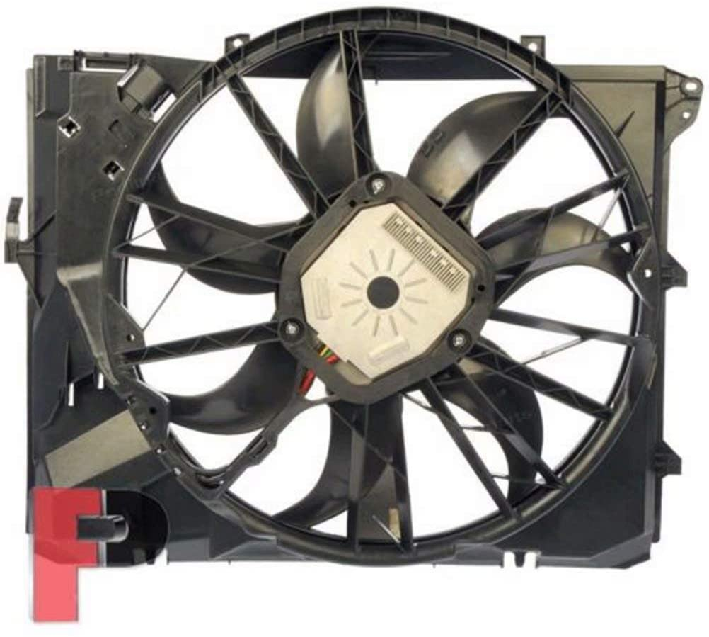 OEM# 17427562080 Radiator Cooling Fan for BMW 128i 323i 325i 328i 330i E87 E90 06-11