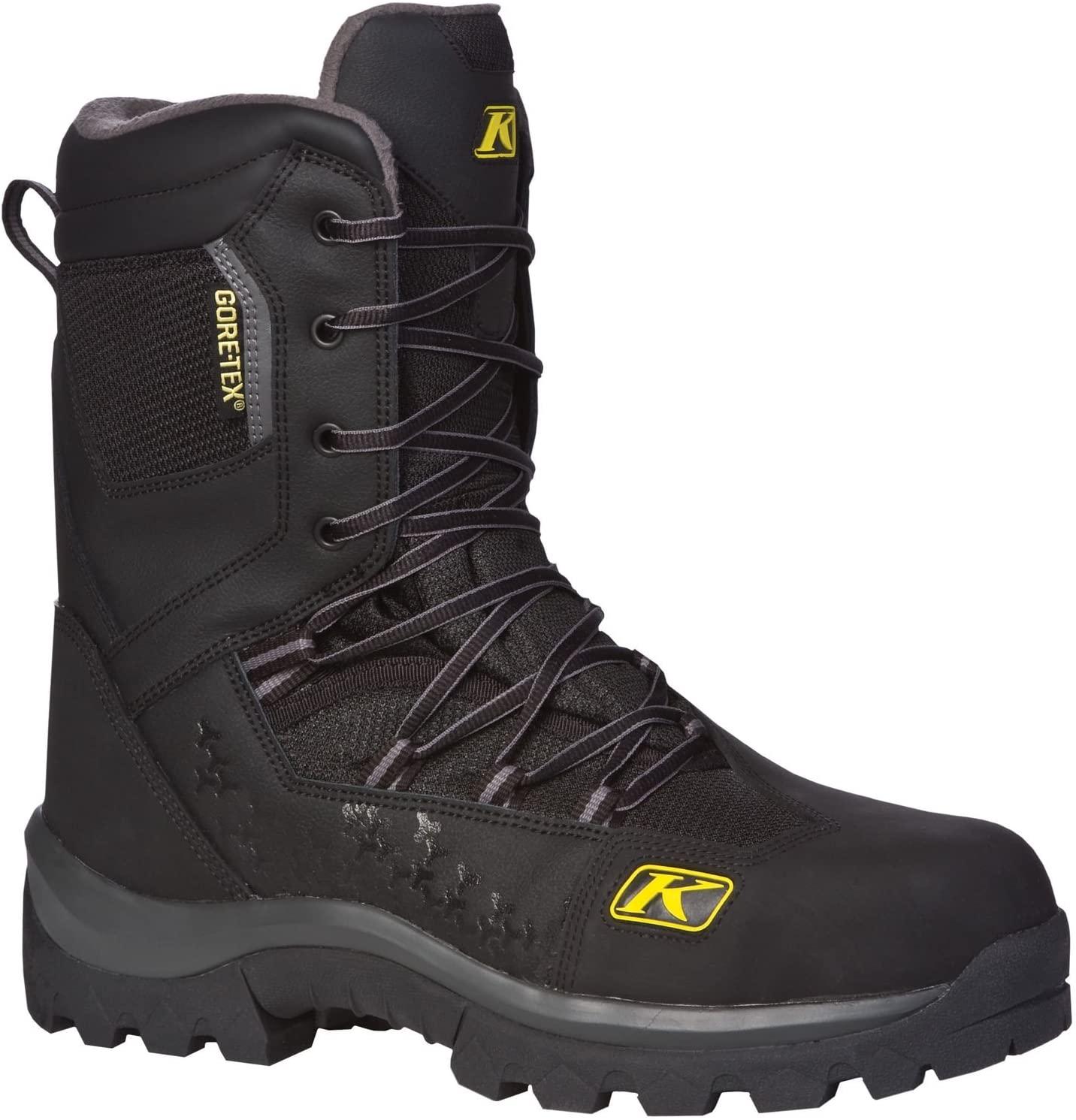 Klim Adrenaline GTX Mens Snocross Snowmobile Boots - Black/Size 5