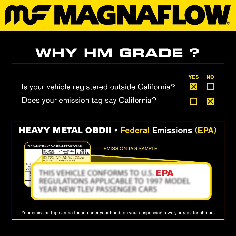 MagnaFlow 93607 Direct Fit Catalytic Converter (Non CARB compliant)