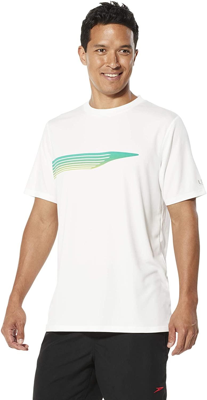 Speedo Mens Uv Swim Shirt Graphic Short Sleeve Tee