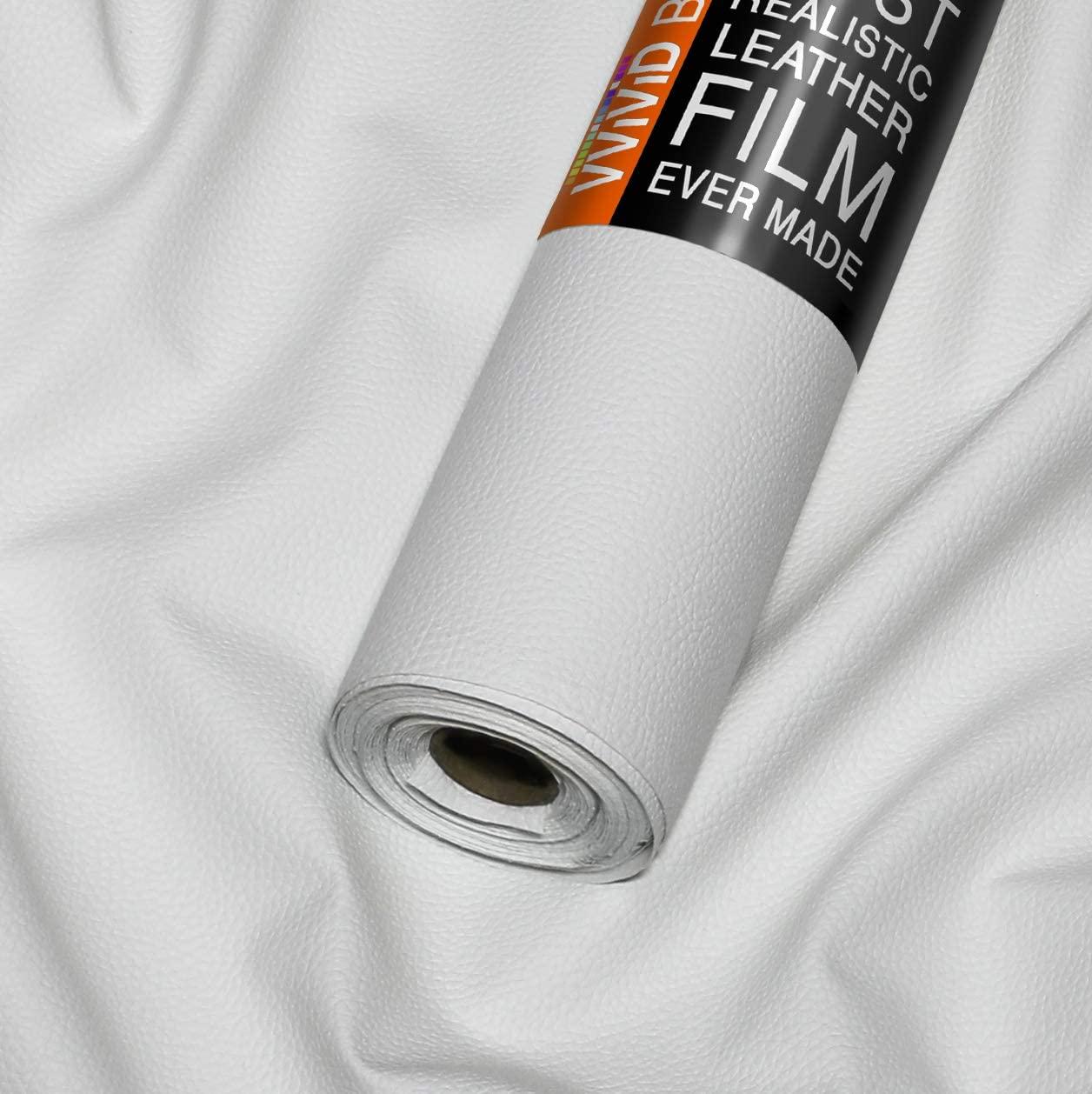 VViViD Bycast65 White Matte Correct-Grain Faux Leather Marine Vinyl Fabric (White 1.5ft x 54