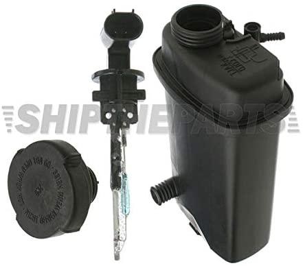 Hamburg-Technic Coolant Expansion Tank + Coolant Level Sensor + Cap 17111741167 for BMW E39 E38